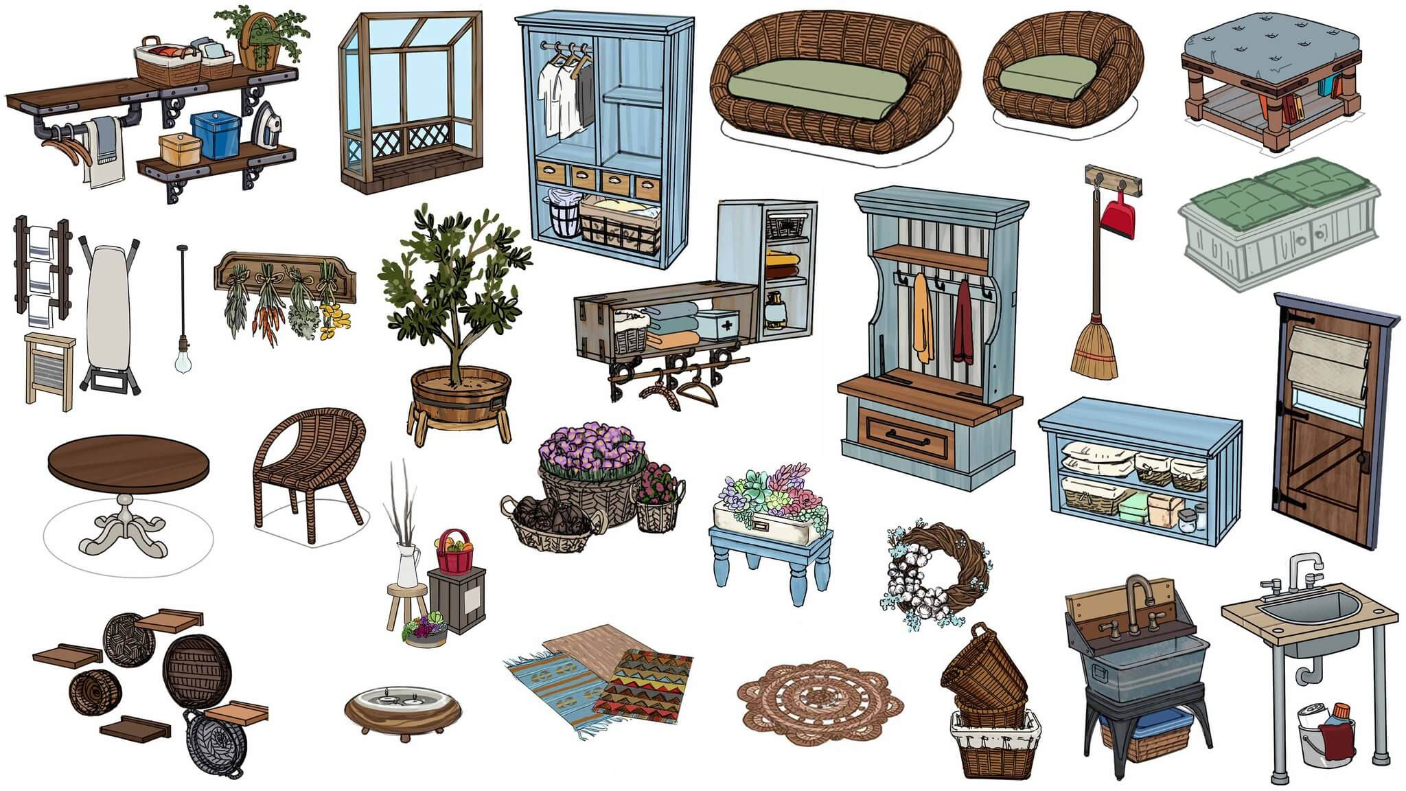 Sims-4-Waschtag-Accessoires-Objekte-Artwork